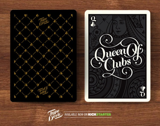 The_Type_Playing_Cards_The_Queen_of_Clubs