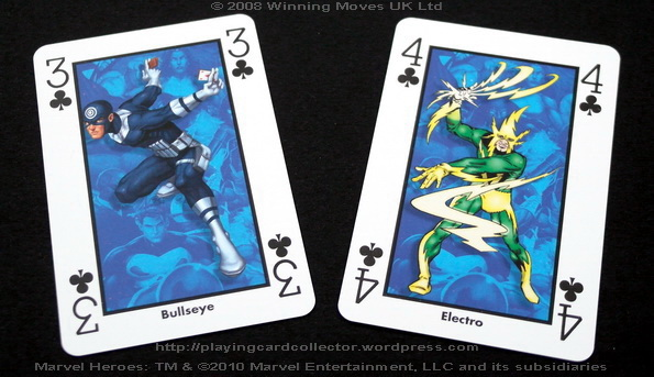 Waddingtons-Marvel-Heroes-Playing-Cards-Clubs-3-4