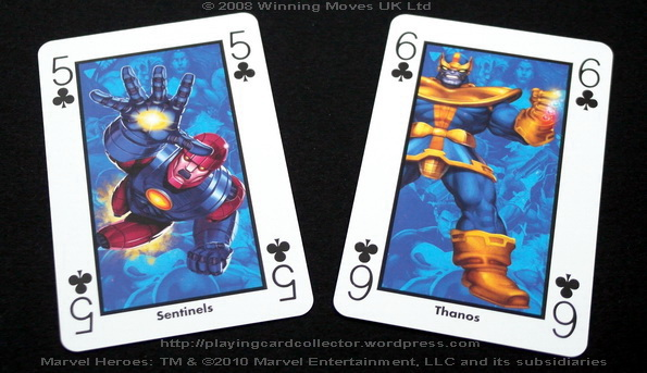 Waddingtons-Marvel-Heroes-Playing-Cards-Clubs-5-6