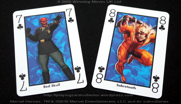 Waddingtons-Marvel-Heroes-Playing-Cards-Clubs-7-8