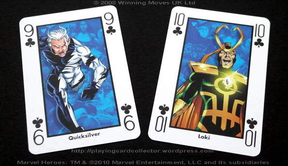 Waddingtons-Marvel-Heroes-Playing-Cards-Clubs-9-10
