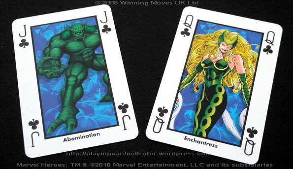 Waddingtons-Marvel-Heroes-Playing-Cards-Clubs-J-Q