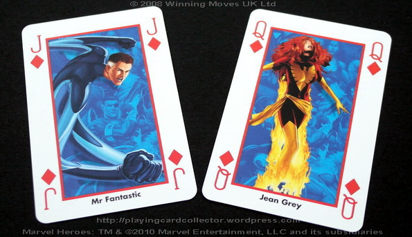 Waddingtons-Marvel-Heroes-Playing-Cards-Diamonds-J-Q