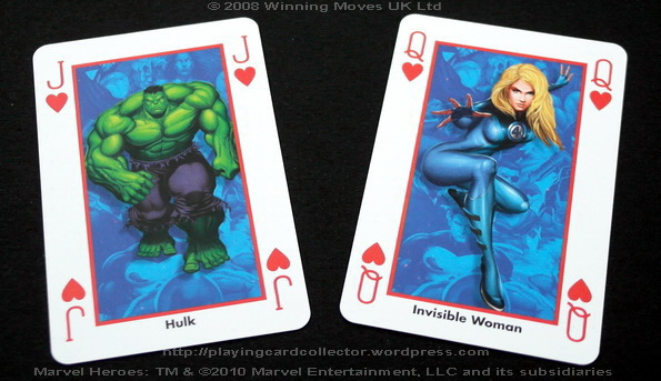 Waddingtons-Marvel-Heroes-Playing-Cards-Hearts-J-Q