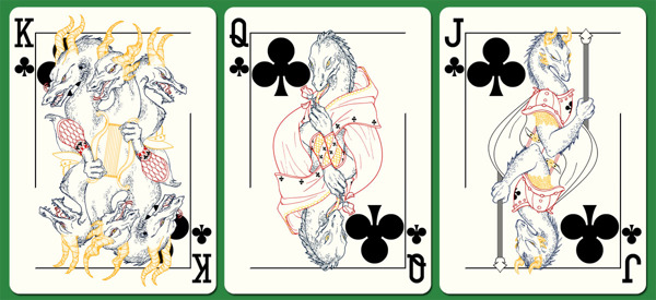 Westeros'_Wildlife_Playing_Cards_Clubs
