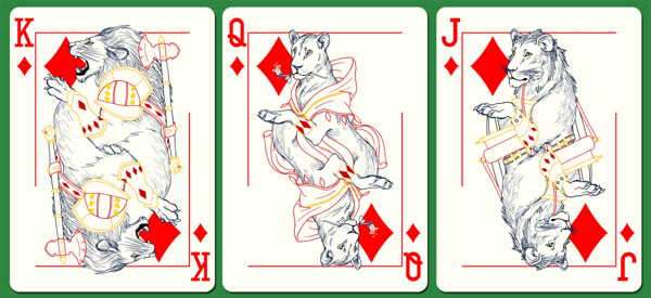 Westeros'_Wildlife_Playing_Cards_Diamonds