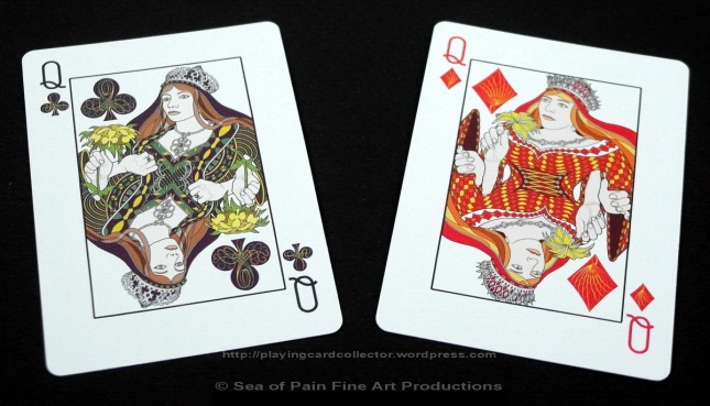 WhiteKnuckle_Playing_Cards_Queens_Clubs_Diamonds