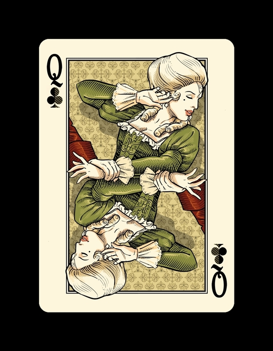 Bicycle-Venexiana-Playing-Cards-Queen-of-Clubs