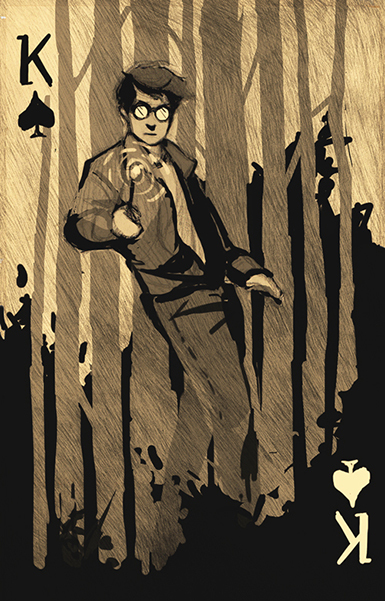 Harry-Potter-Playing-Cards-King-of-Spades-by-Katherine