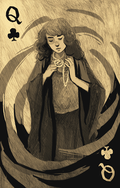 Harry-Potter-Playing-Cards-Queen-of-Clubs-by-Katherine