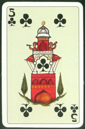 Kashmir_Playing_Cards_Five_of_Clubs