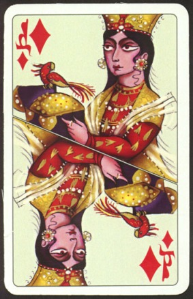 Kashmir_Playing_Cards_Queen_of_Diamonds
