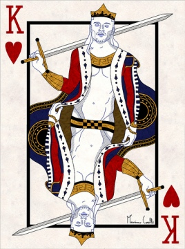 M-Carelli-Semi-Transformation-Playing-Cards-King-of-Hearts