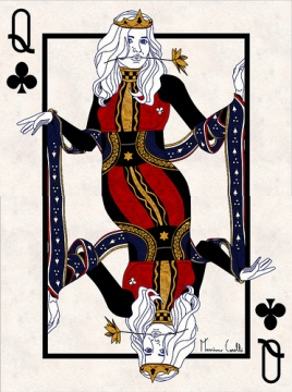 M-Carelli-Semi-Transformation-Playing-Cards-Queen-of-Clubs