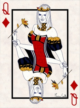 M-Carelli-Semi-Transformation-Playing-Cards-Queen-of-Diamonds