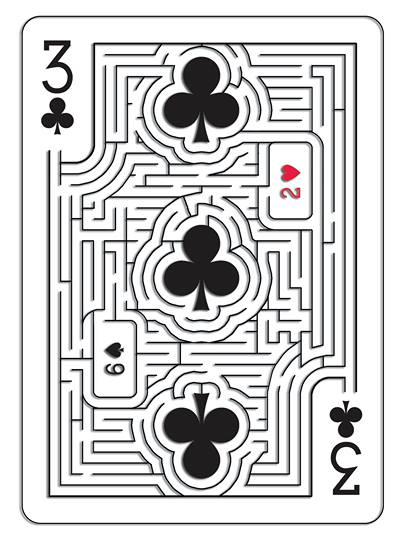 Mazing_Playing_Cards_Three_of_Clubs
