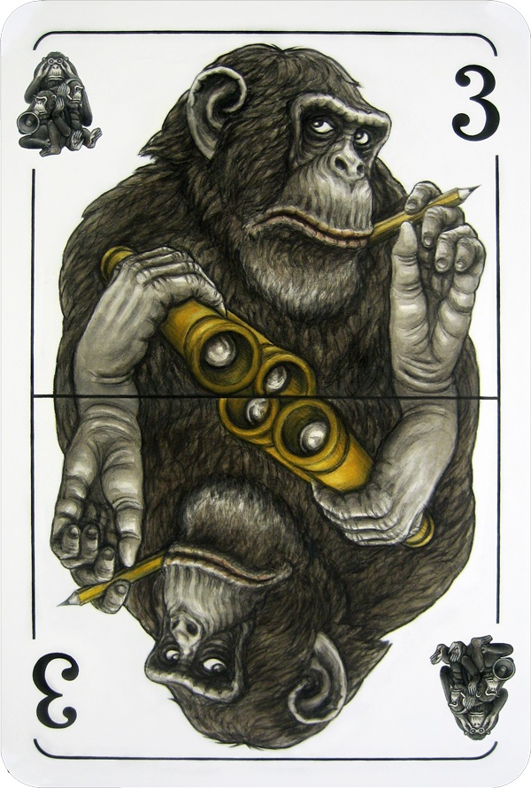 Monkey_Playing_Cards_by_Puttbill_See_Everything