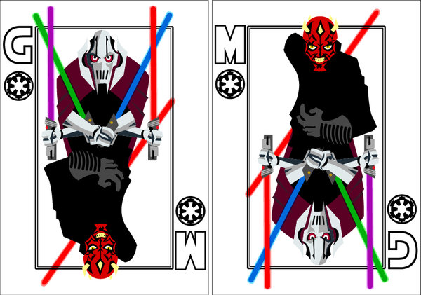 Playing-Cards-Darth-Mual-and-General-Grievous-by-Benjamin-Arce