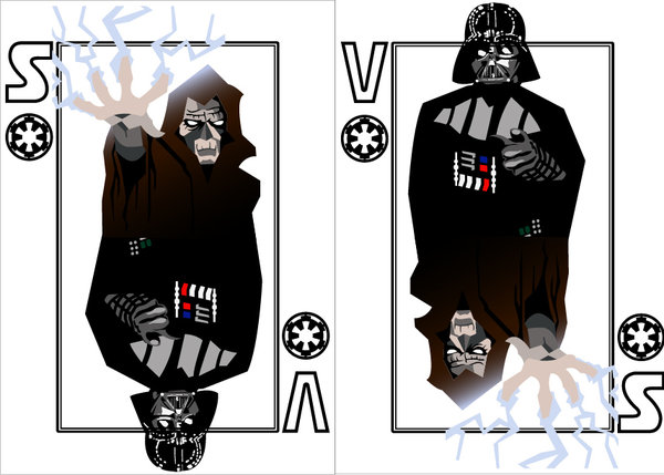Playing-cards-Darth-Sidious-and-Darth-Vader-by-Benjamin-Arce