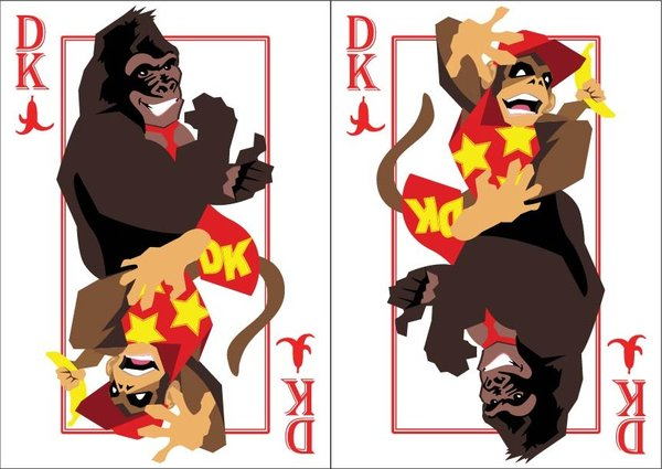 Playing-Cards-donkey-kong-and-diddy-kong-by-Benjamin-Arce