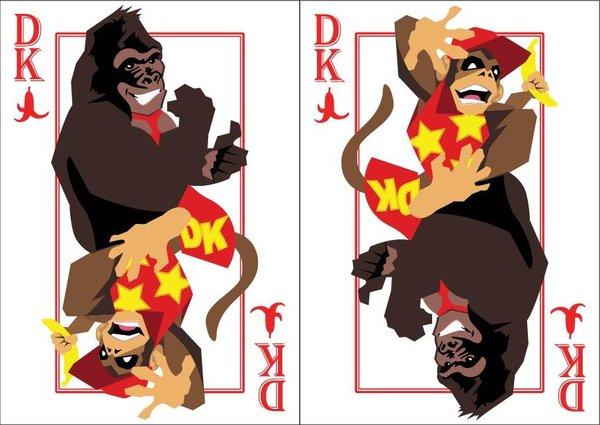 Playing-Cards-donkey-kong-and-diddy-kong-by-Benjamin-Arce