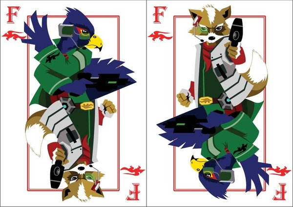 Playing-Cards-fox-and-falco-by-Benjamin-Arce