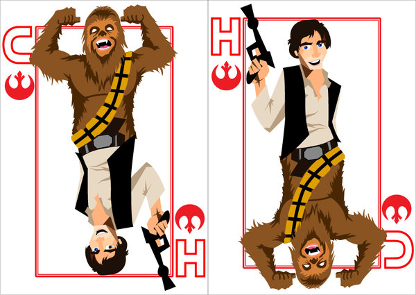 Playing-Cards-Han-Solo-and-Chewbacca-by-Benjamin_Arce