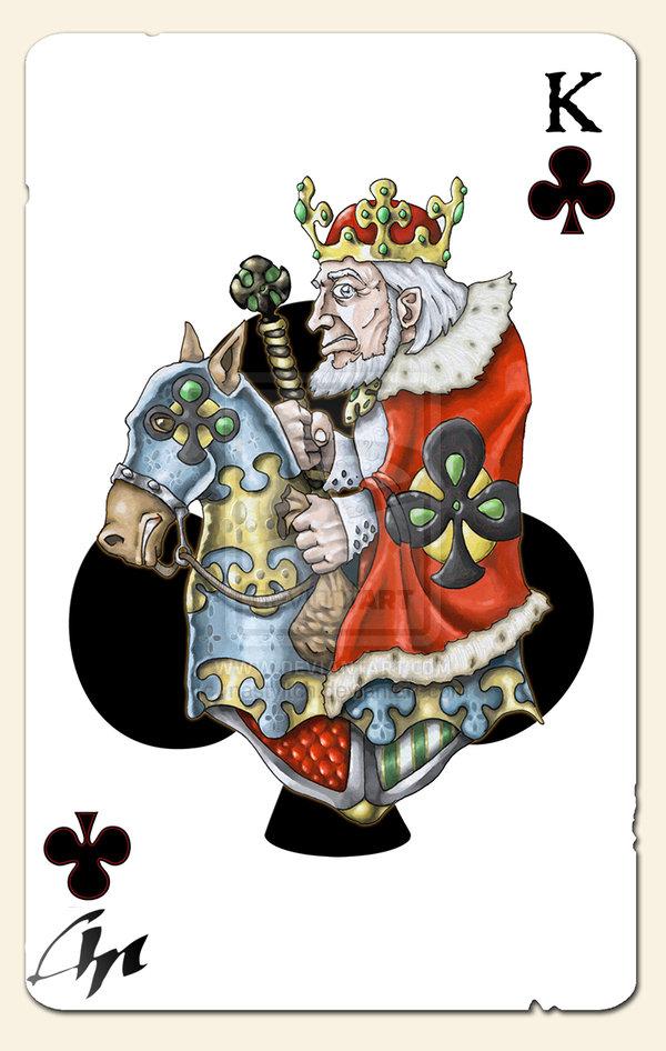 Bicycle playing card king