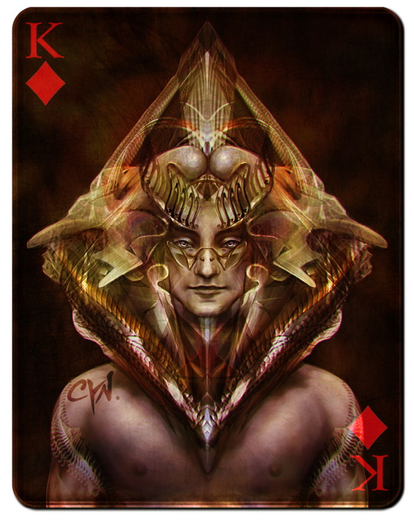 playing_cards_king_of_diamonds_by_cynthia_franca_black