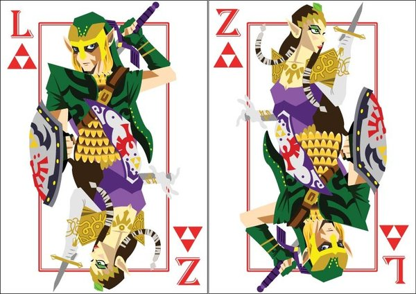 Playing-Cards-link-and-princess-zelda-by-Benjamin-Arce