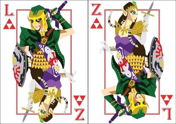 Playing-Cards-link-and-princess-zelda-by-Benjamin-Arce