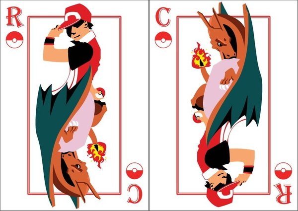 Playing-Cards-red-and-charizard-by-Benjamin-Arce