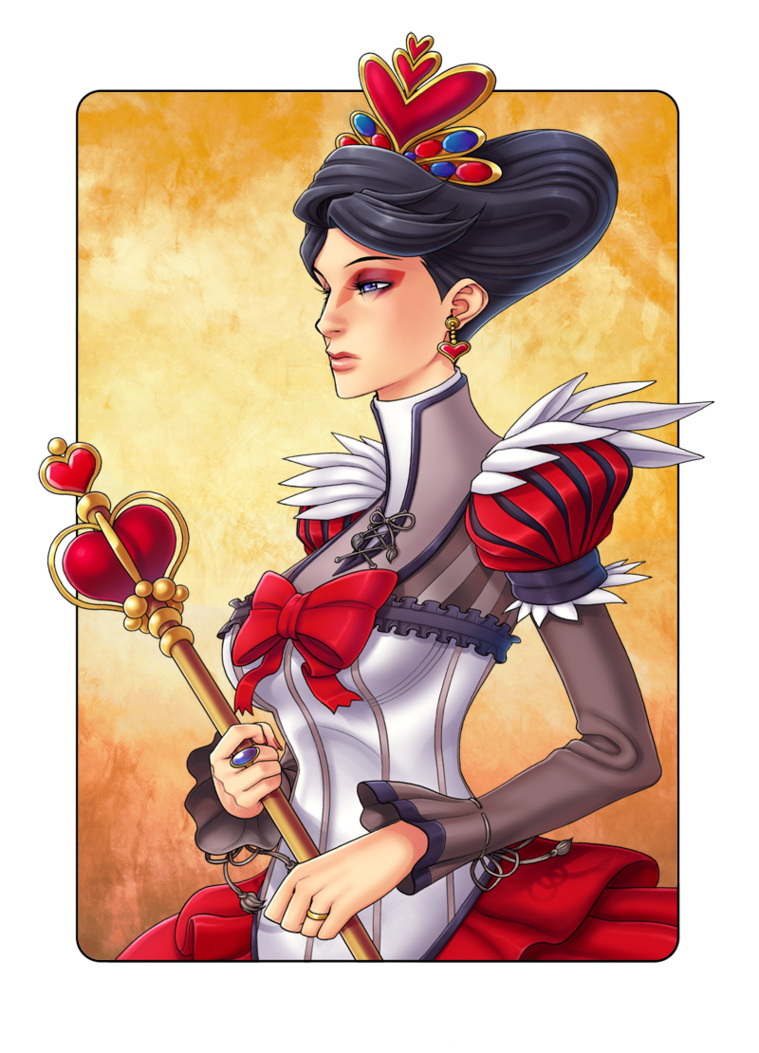 the queen of hearts playing cards art collecting. Black Bedroom Furniture Sets. Home Design Ideas