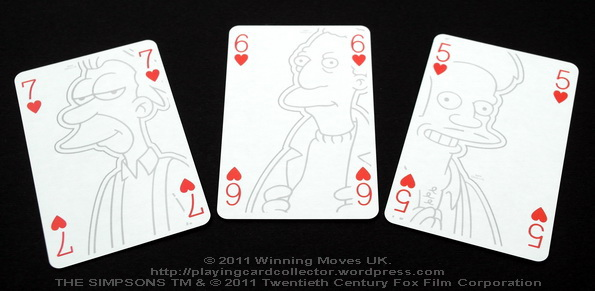 Waddingtons_The_Simpsons_Playing_Cards_Hearts_5_6_7