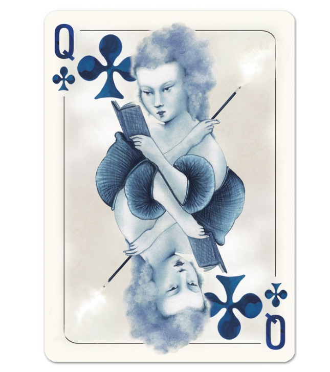 Blueblood_Redux_Playing_Cards_Queen_of_Clubs