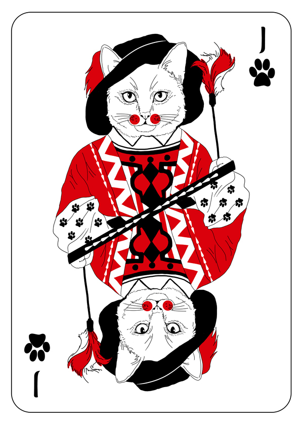 Cats_Playing_Cards_by_Katarzyna_Kalder_Jack