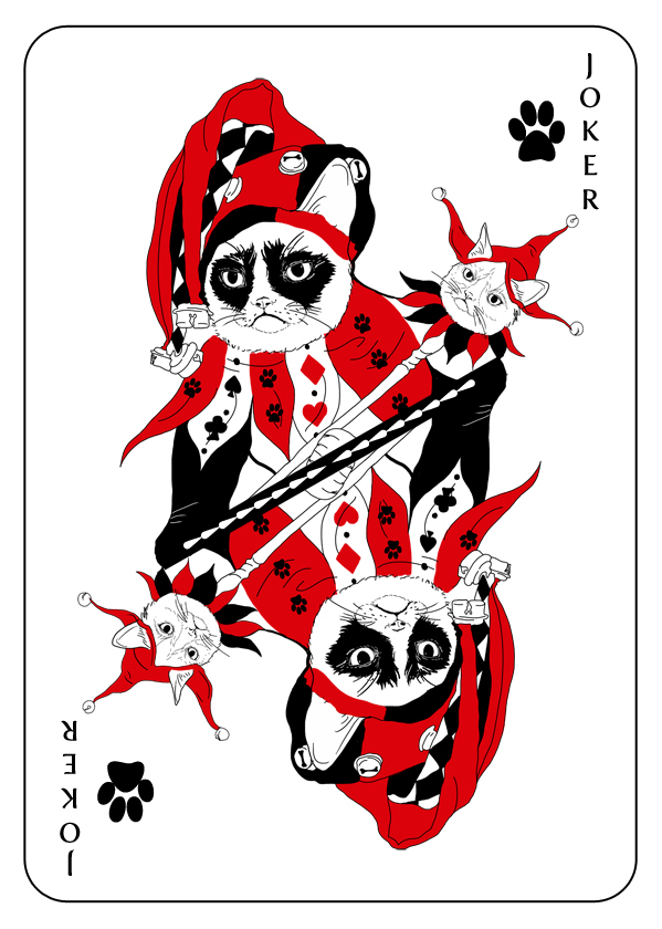 Cats_Playing_Cards_by_Katarzyna_Kalder_Joker