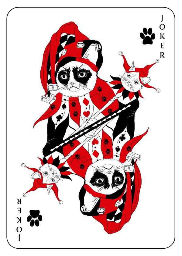 Cats_Playing_Cards_by_Katarzyna_Kalder_Joker