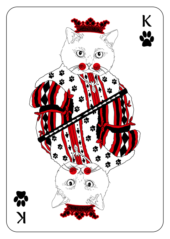 Cats_Playing_Cards_by_Katarzyna_Kalder_King