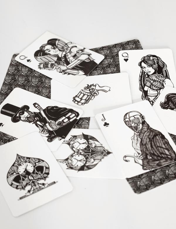 Elena_Sokolova_Decorative_Playing_Cards_steampunk