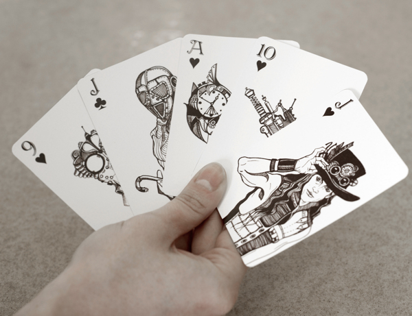 Elena_Sokolova_Decorative_Playing_Cards_steampunk_2