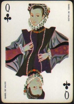 Espana_Imperial_Fournier_Playing_Cards_Queen_of_Clubs