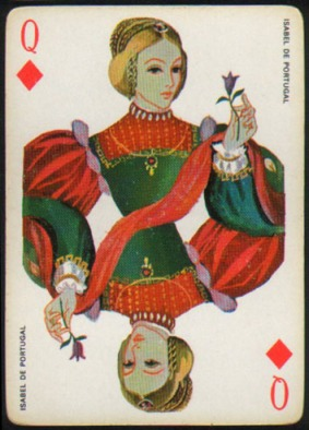 Espana_Imperial_Fournier_Playing_Cards_Queen_of_Diamonds