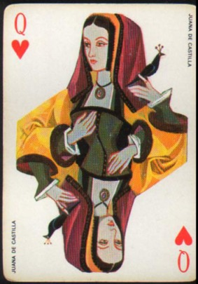 Espana_Imperial_Fournier_Playing_Cards_Queen_of_Hearts