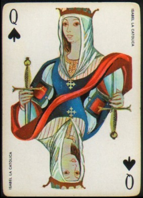 Espana_Imperial_Fournier_Playing_Cards_Queen_of_Spades