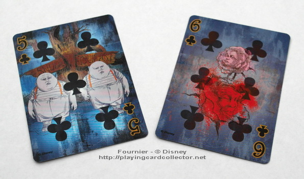 Fournier-Alice-in-Wonderland-Playing-Cards-Clubs-5-6