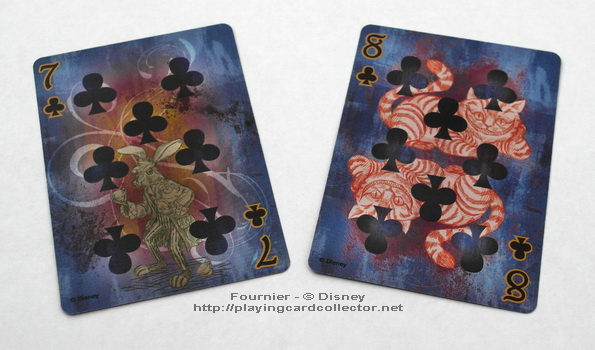 Fournier-Alice-in-Wonderland-Playing-Cards-Clubs-7-8