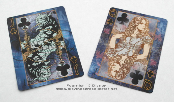 Fournier-Alice-in-Wonderland-Playing-Cards-Clubs-Jack-Queen