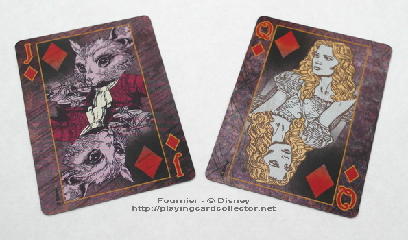 Fournier-Alice-in-Wonderland-Playing-Cards-Diamonds-Jack-Queen