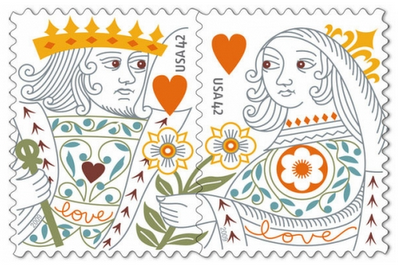 US_stamp_king_and_queen_of_hearts
